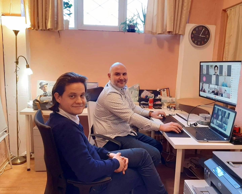 Ovidiu Andris si Vlad Popescu, webinar profesori muzica